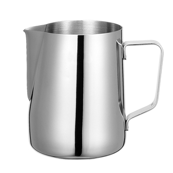 Rokene dzbanek ze stali nierdzewnej dzbanek do spieniania mleka kafiatera do Espresso narzędzia baristy dzbanek do spieniania mleka Latte dzbanek do spieniania mleka tanie i dobre opinie STAINLESS STEEL Kawy Percolators Milk Frothing Jug Stainless Steel Jug Pitcher Coffee Latte Milk Frothing Jug Coffee Tea Tools