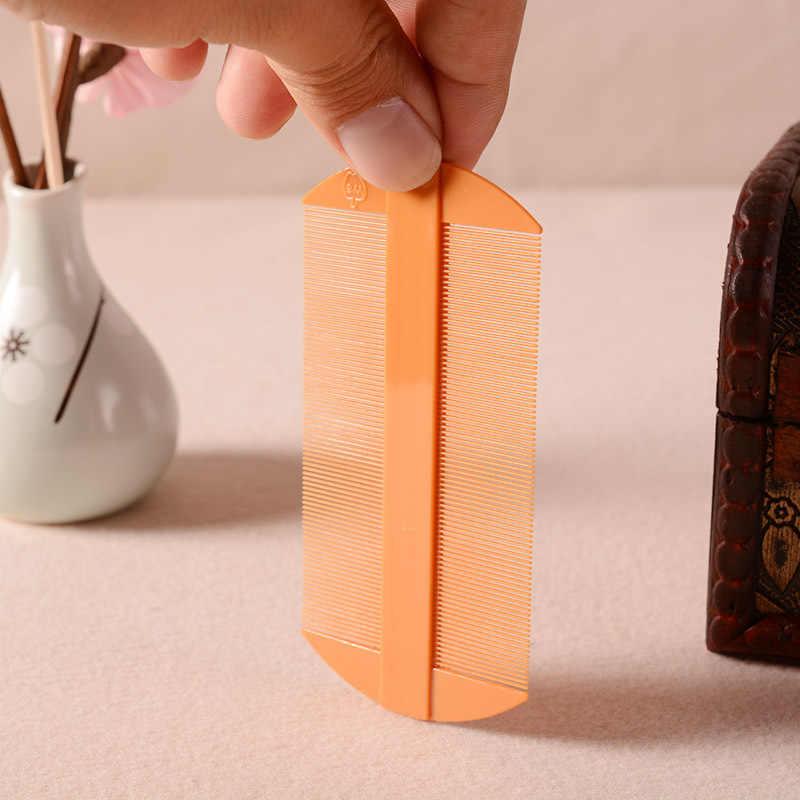 1 個トレンディ新暗号火格子シラミ櫛両側竹 Mushu 両面コームふけヘアケアスタイリングケアスタイリングツール