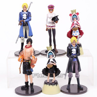 Anime One Piece Sabo Ace Koala Sugar PVC Figures Toys 6pcs Set 12 14cm