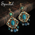 Special New Fashion Ceramic Bead Dangle Earrings Opal Vintage Ear-piercing Jewelry Gold-plated Gifts for Women EH160423