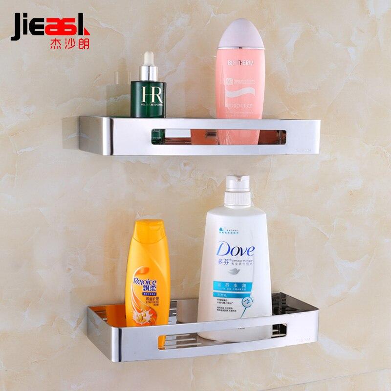 US $24.2 45% OFF 304 Edelstahl Regale Bad Solide Doppel Bolzen Einsetzen  Typ Wand Bad Regal Solide Regal Edelstahl Shampoo Halter-in  Badezimmerregale ...