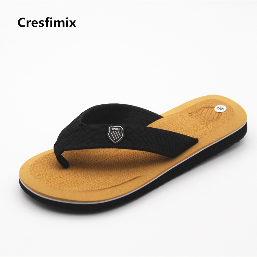 Cresfimix male fashion spring & summer beach flip flops men casual outside eva flip flops man's cool and comfortable flip flops цена
