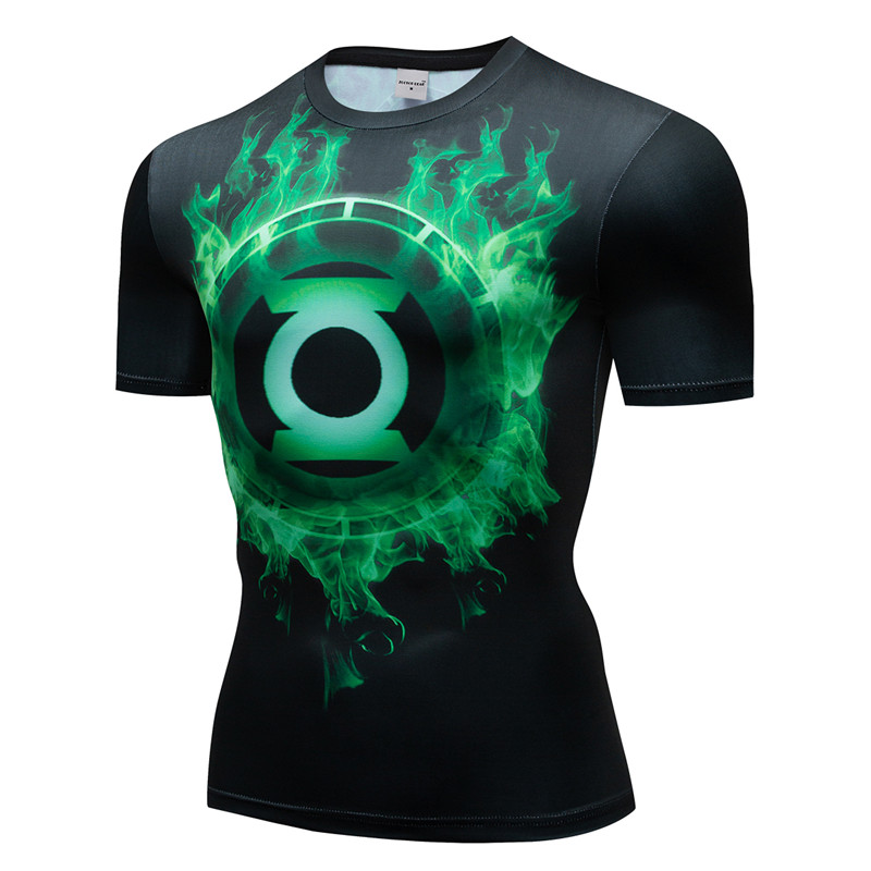 Marvel Captain Men T shirt Compression Super Hero Fitness 3D Print Shirts Quick Dry Breathable Bodybuilding Short Sleeve Fitness