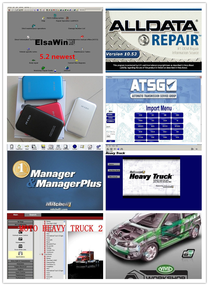 auto software repair alldata 10.53 and mitchell on demand +moto heavy truck 27in1 external hard disk for computer