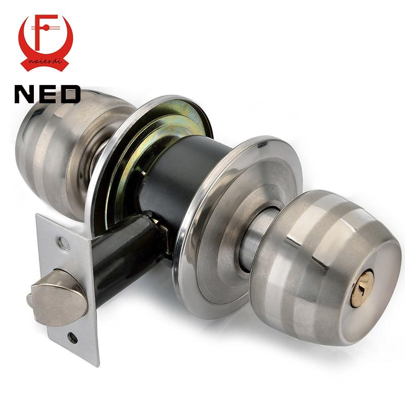 NED Stainless Steel Spherical Locks Copper Round Ball Door Knobs Handles  Passage Entrance Lock For HomeOnline Get Cheap Bedroom Door Knob Lock  Aliexpress com   Alibaba  . Bedroom Door Handles. Home Design Ideas