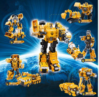 Alloy Engineering Transformation Robot Car Deformation Toy 2 In 1 Metal Alloy Construction Vehicle Truck Assembly