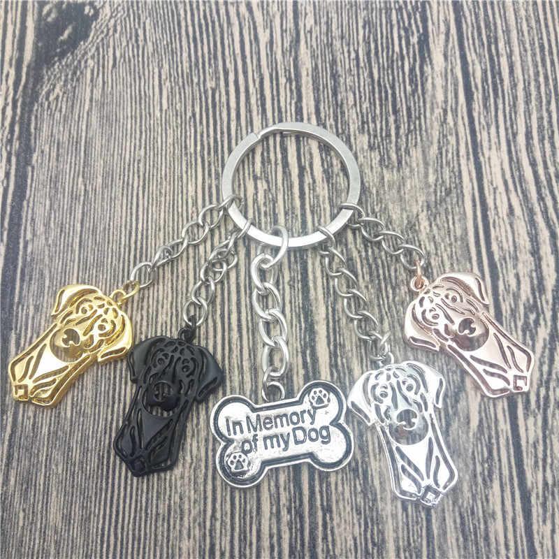 Doberman Pinscher Key Chains Fashion Pet Dog Đồ Trang Sức Doberman Pinscher Xe Keychain Bag Keyring Cho Phụ Nữ Người Đàn Ông