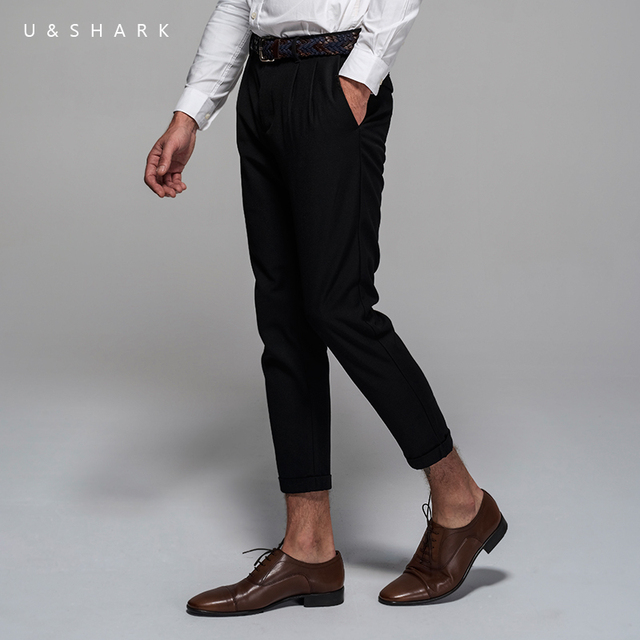 Ushark New Arrival Black Formal Business Suit Pants Men Brand