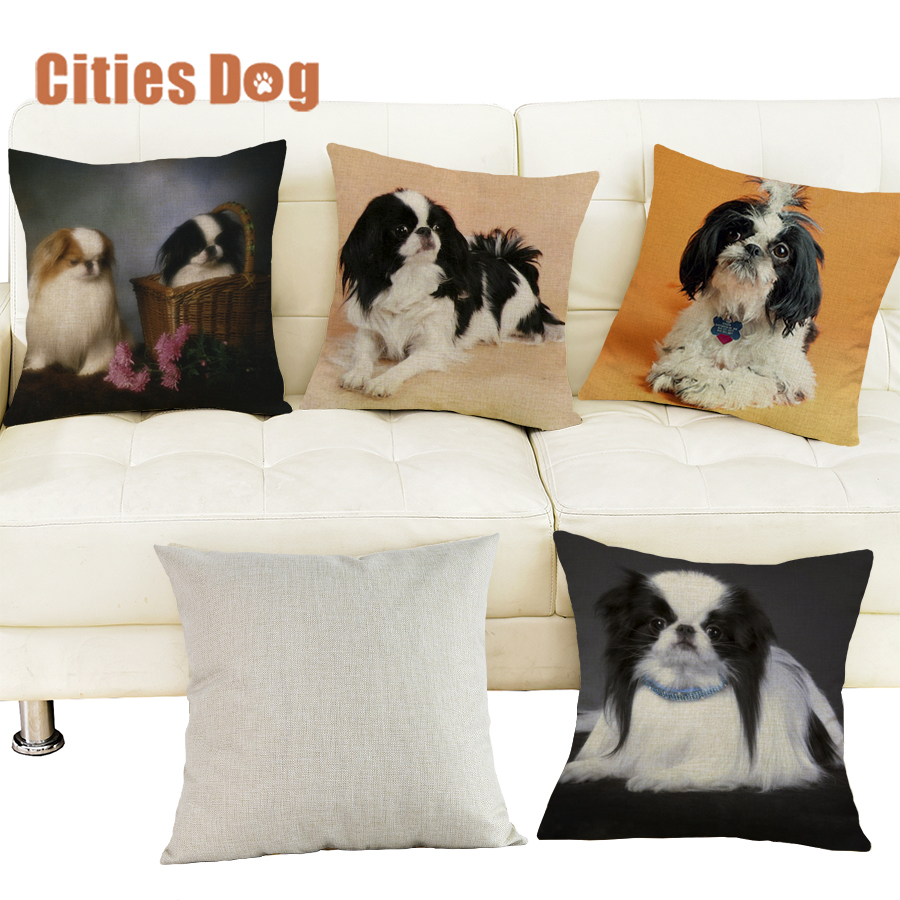 christmas decorations for home pillows cushion cover Japanese Chin dog Pillowcase dakimakura almofada Animal sofa cojines
