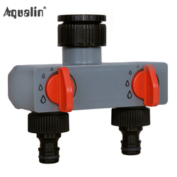 2 Way Water Distributor Tap Adapter  ABS Plastic Connector Hose Splitters for Hose Tube Water Faucet #27211