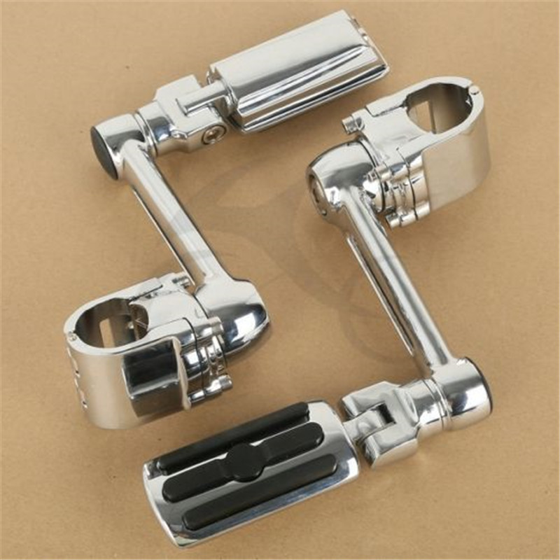 Image 5 - Motorcycle 1 1/4'' Highway Chrome Front Foot pegs Footrest For Honda GL1800 GOLDWING-in Foot Rests from Automobiles & Motorcycles
