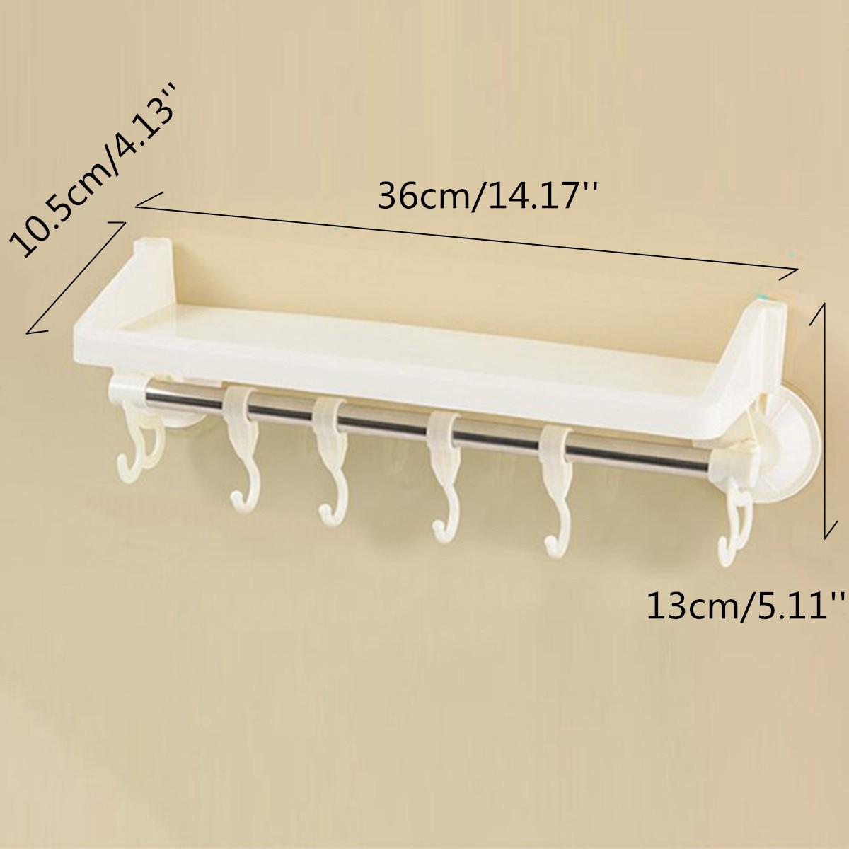 Marvelous Plastic Rack Storage Bathroom Shower Shelf Makeup Towel Sponge Holder  Suction Organizer Toilet Wall Kitchen Corner In Storage Holders U0026 Racks  From Home ...