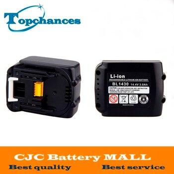 2PCS New High Quality 3000mAh 14.4V Li-ion Battery for Makita Drills 194065-3 BL1415 BL1430 MET1821 LXPH02 Battery
