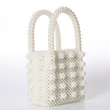 Fashion Pearl bag ladies handbag beaded Bag Female Purse Handmade Evening  Bag Luxury Handbags bags for · 4 Colors Available 2ed0002902f8