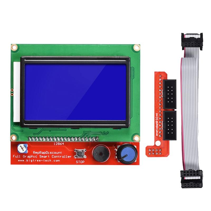 BIQU 12864 LCD Control Panel Smart Controller RAMPS1 4 LCD RepRap MKS GEN L  Support Control Board for 3D Printer