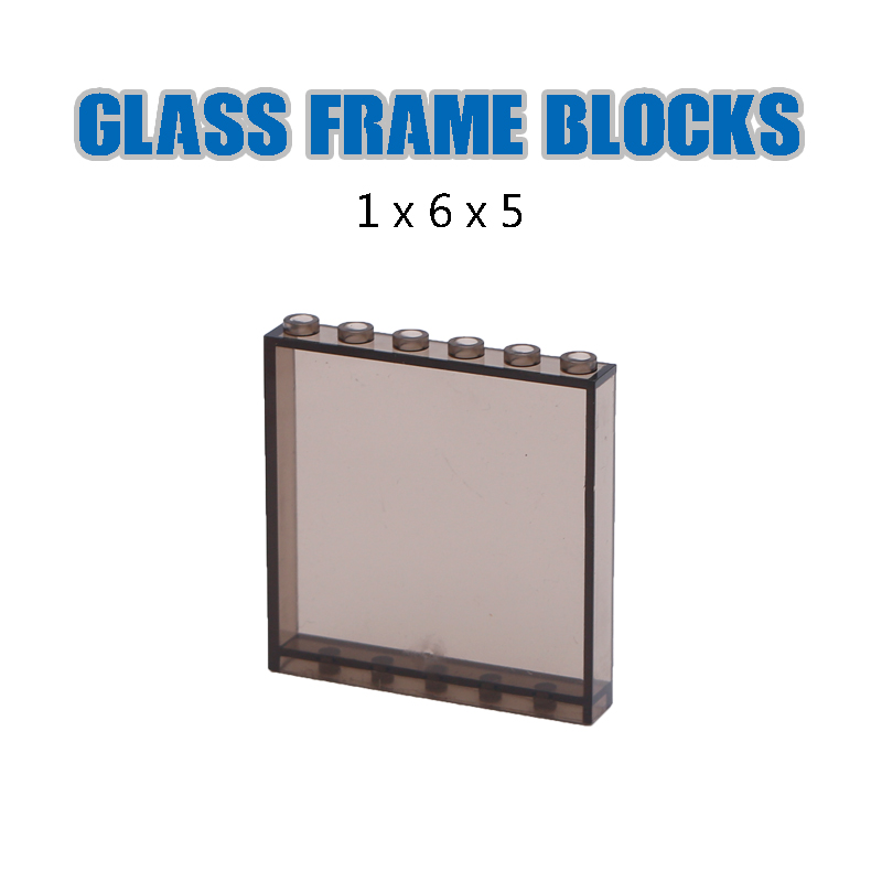 Image 2 - LegoINGlys City Building Blocks Window Frame Transparent Panel Wall House Parts Street View Friends Accessories MOC Bricks Toys-in Blocks from Toys & Hobbies