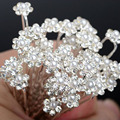 40PCS U Pick Pearl Hair clips Flower Crystal Fashion Hair pins Jewelry for Wedding Bridal