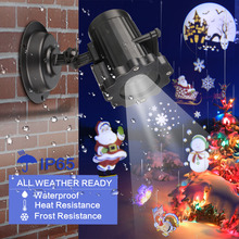 Christmas Light Laser Projector Animation Effect Indoor/Outdoor Halloween 12 Patterns Snowflake/Snowman