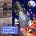 Luce di natale Proiettore Laser di Animazione Effetto Indoor/Outdoor Halloween Proiettore 12 Modelli di Fiocco di Neve/Pupazzo di Neve Luce Laser