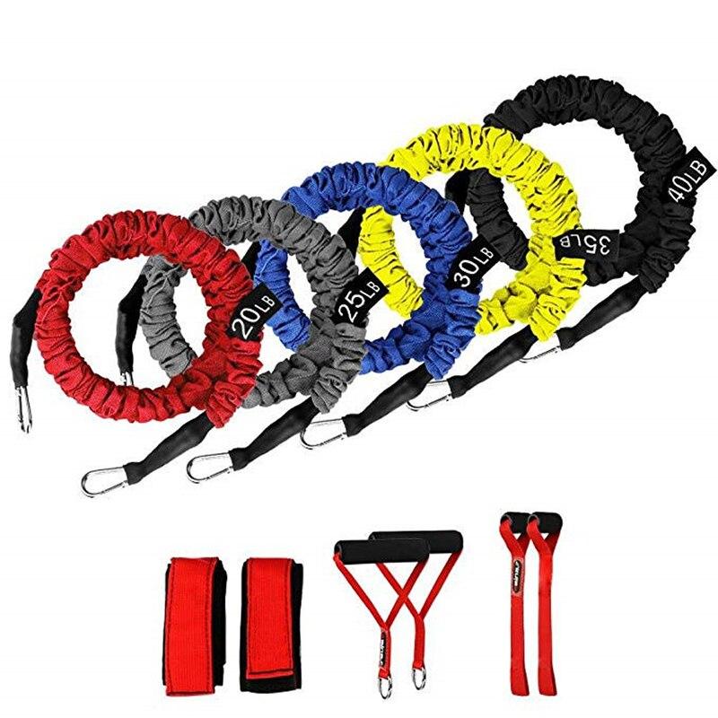 150 lbs Weerstand Band Set Verbeterde multifunctionele Oefening Weerstand Latex Buizen voor Training Gym Bodybuilding Sport Workout
