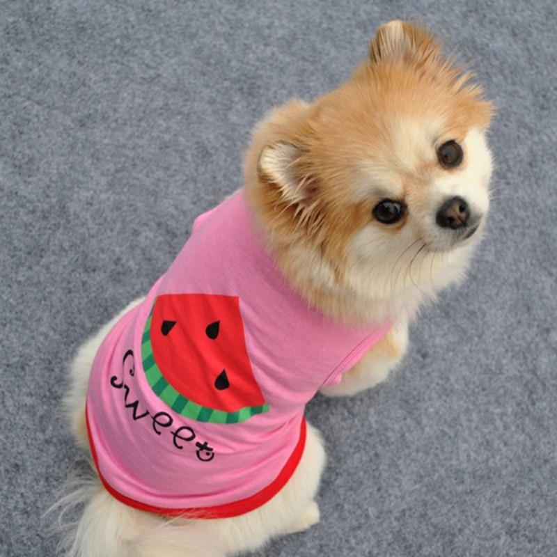 Pet Puppy Bikini T-Shirt Small Dog Cat Pet Clothes Vest T Shirt Apparel XS-L