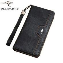 4c79d0c663524 2018 nowy kangur mężczyzna portfel zamek długi telefon sprzęgłowa torba  mody torebka płócienna karty portfel telefon · 9 dostępne kolory