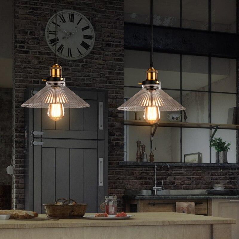 luces de colores colgantes de cristal colgante de luz para el hogar negro comedor cuerda rstica