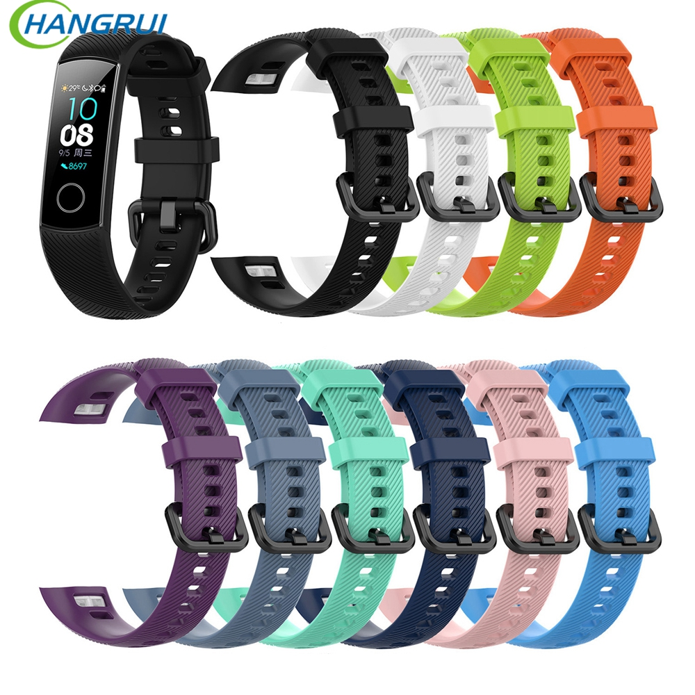 Silicone Wrist Strap For Huawei Honor Band 4 Smart Sport Bracelet Strap For Huawei Honor Band 5 Band4 Standard Version Film