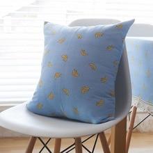 Pillowcase Nodic Style Geometric Simple Blue Banana Print Throw Cushion Cover Pillow Case Cotton Linen Bedroom Home Decorative цена