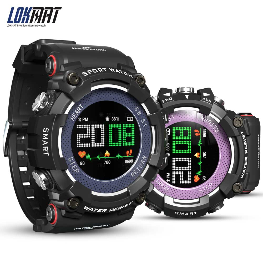 LOKMAT Smartwatch Bluetooth IP68 Waterproof Wearable Device Heart Rate Monitor Color Display Smart Watch For Android ios|Smart Watches| |  - AliExpress