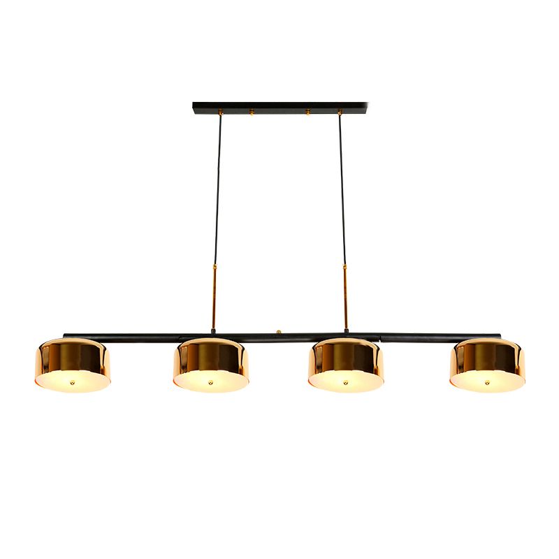 Modern simple 4 arm LED pendant light rose gold metal plating hanging lamp LED lamp living room dining room home decoration