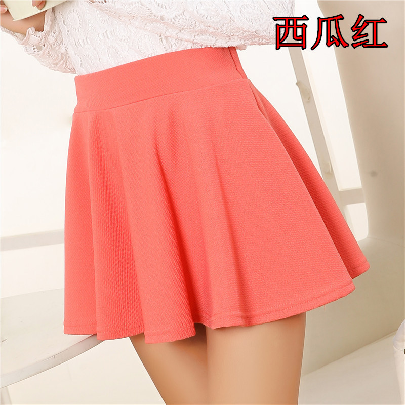 fashion stretch waist mini skirts color