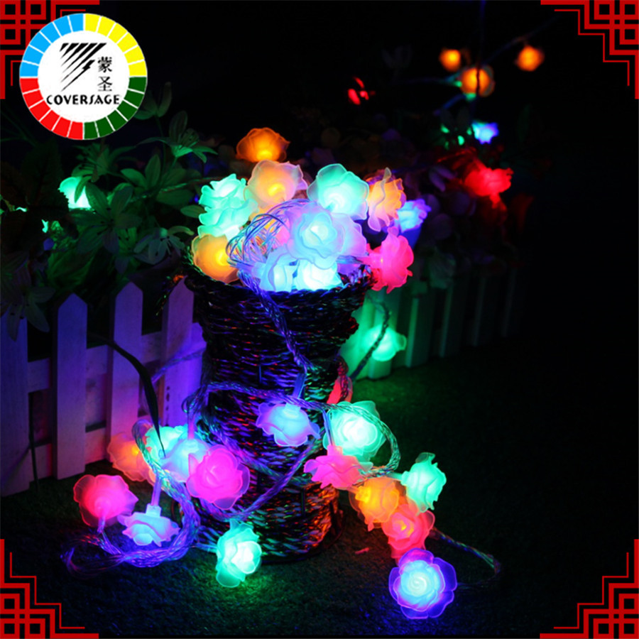 Kaaned 10M 100 Led String Garland Jõulupuu Rose Flower Fairy Light - Puhkusevalgustus - Foto 2