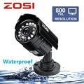 ZOSI 1/3 Color CMOS 800TVL Bala Mini CCTV Câmera HD Preto ao ar livre 24 IR Leds Dia/Noite de Segurança de Vigilância De Vídeo Em Casa câmera