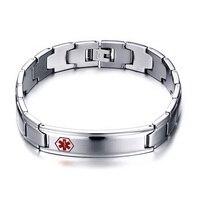 Men S Box Chain Bracelet Bangle Engraving Medical Stainless Steel Men S Jewelry Never Rust