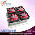 Cooling Water cooling DIY cooler large heatsink 200*200mm 4chip peltier module 200W more powerful OEM customized