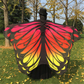 ZAFUL Wholesale Gradient Color Butterfly Wing Cape Chiffon Pashmina Women Scarves Fashion  Wraps Female Scarves And Shawls Gifts
