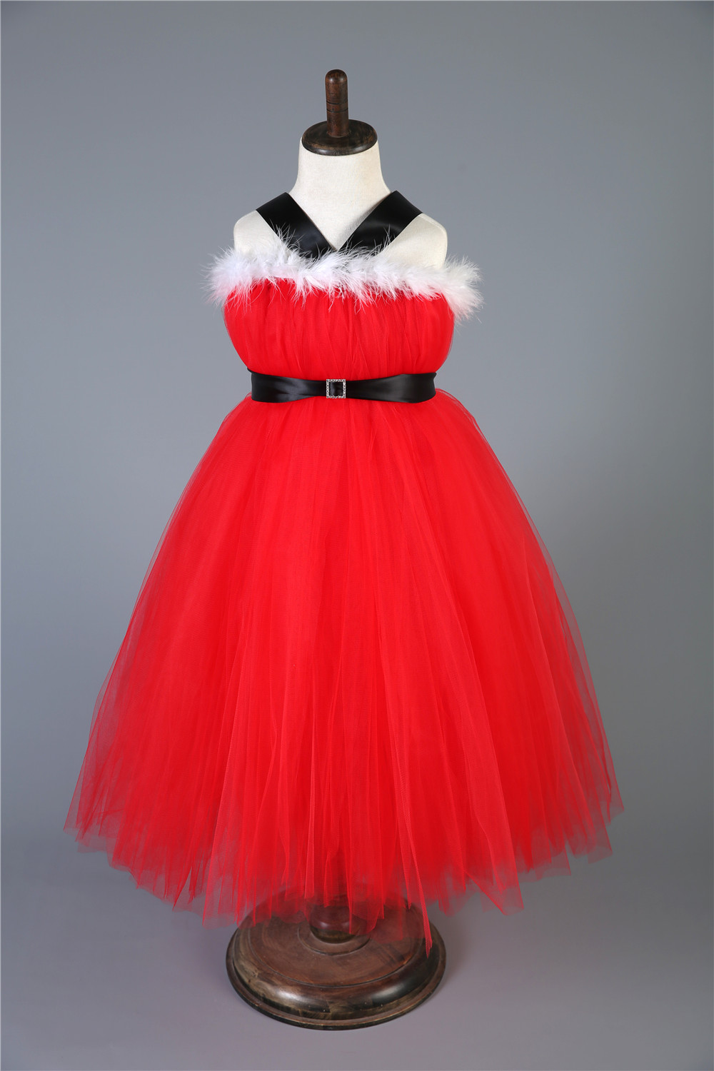Children Christmas Dresses for Girls New Year Clothes Kids Baby Girls Xmas  Party Tutu Dress Costumes Red Tulle Princess Dress 4beccb981