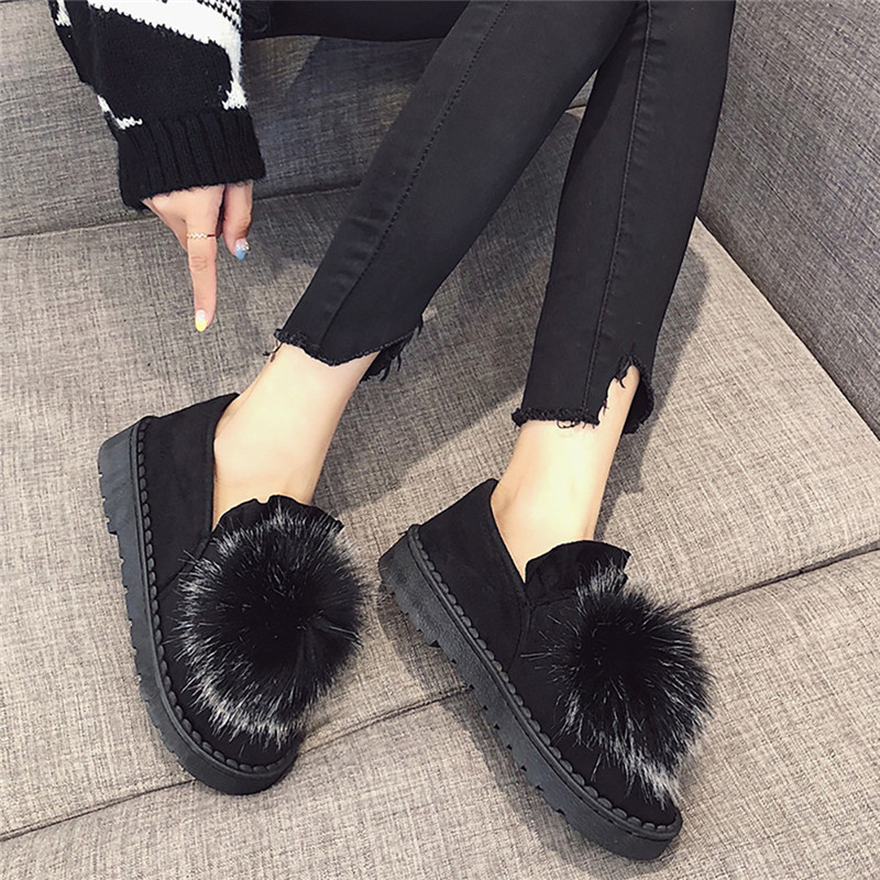 New 2018 women snow boots thick plush winter warm shoes fashion slip on flat waterproof women ankle boots cotton-padded shoes#40 недорго, оригинальная цена