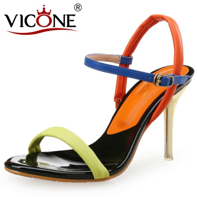 VICONE Women Summer Narrow Band Fashion Novelty Thin Heels professional cheap price QGBsVw