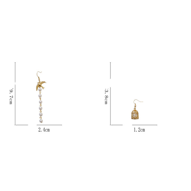 Модные жемчужные серьги с кисточками капли асимметричные элегантные