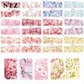 STZ 12 Diseños en Un Conjunto de flor de Durazno Flor Llena Wraps Nail Art Tatuajes de Transferencia de Agua Calcomanías de Uñas de Manicura BN073-084