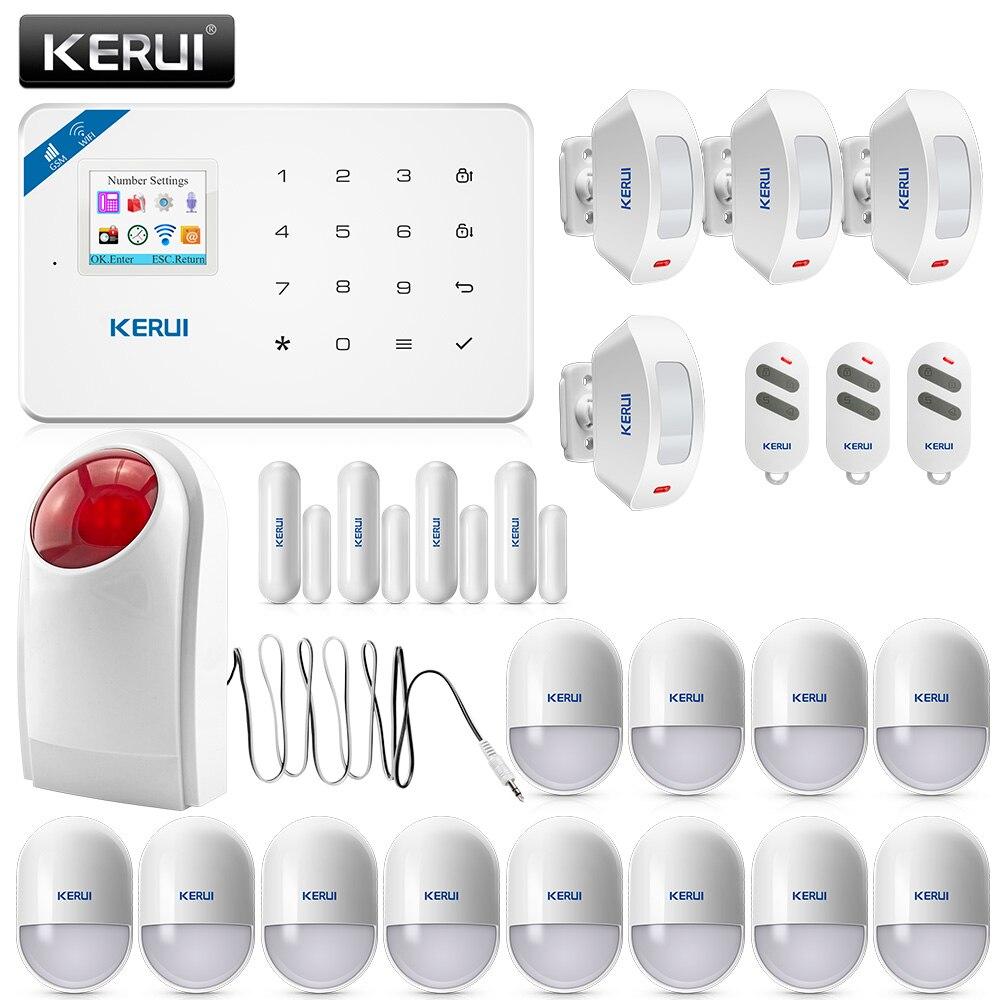 KERUI W18 Sans Fil Accueil Alarme Wifi GSM APP Télécommande LCD GSM SMS de Cambrioleur de Sécurité Système D'alarme de Sécurité À Domicile