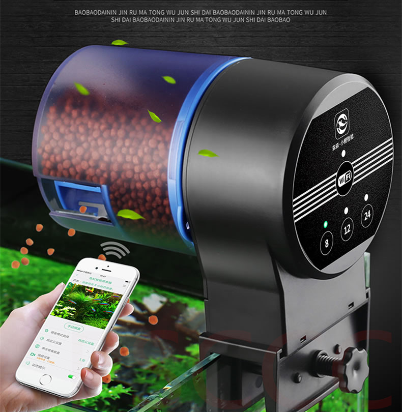 WIFI Automatic feeder for fish Shrimp Turtle tank Control food outlet Auto Fish Feeder Timer Food