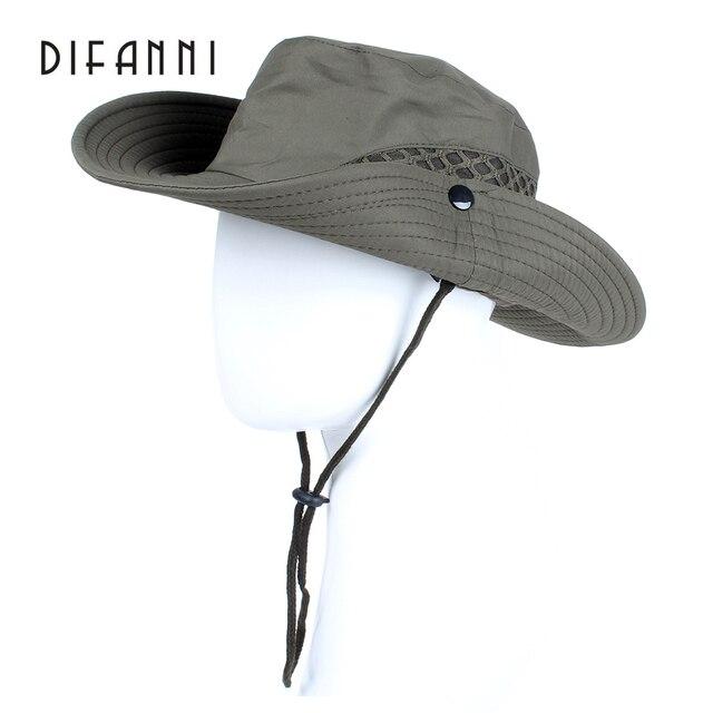 valeur formidable site officiel une autre chance € 8.6 45% de réduction|Difanni été hommes femmes couleur unie seau chapeau  avec chaîne pêcheur casquette militaire panama safari boonie randonnée ...