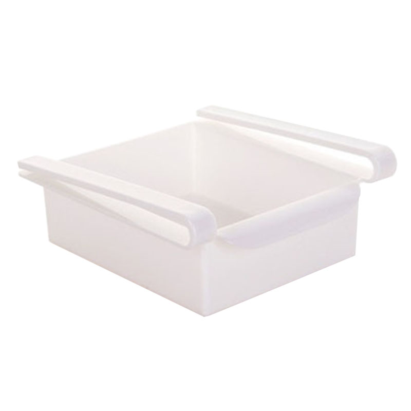 White Kitchen Bin Part - 45: 2016 New White PP Refrigerator Holder Vagetables And Fruits Container  Kitchen Tool Free Shipping White Color