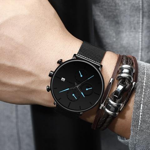 CRRJU Fashion Date Mens Watches Top Brand Luxury Waterproof Sport Watch Men Slim Dial Quartz Watch Casual Relogio Masculino Multan