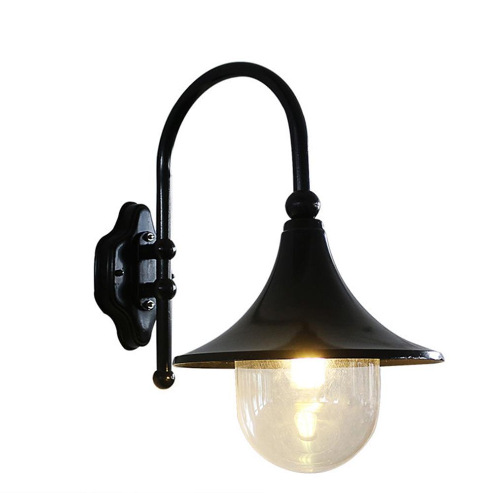 Громкоговоритель настенный светильник светодио дный водонепроницаемый IP44 E27 Base садовый дверь голову двор лампы Настенные светильники нару...