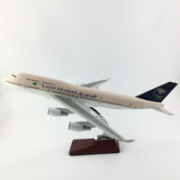 45 47CM SAUDI ARABIAN Boeing747 1:150 METAL Alloy Aircraft Model Collection Model Plane Toys Gifts Free express EMS/DHL/Delivery