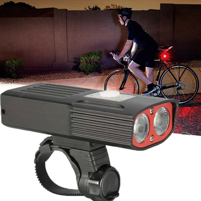USB Rechargeable LED Bicycle Bright Bike Front Headlight Lamp Waterproof Sports